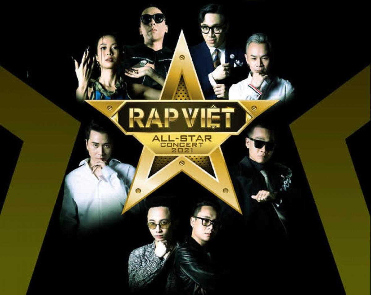 """Concert """"Rap Việt All-Star"""" tạm hoãn do diễn biến phức tạp của dịch Covid-19."""