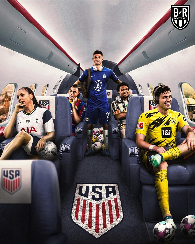 """""""Thế hệ vàng"""" của bóng đá Mỹ. (Ảnh: Bleacher Reports)"""
