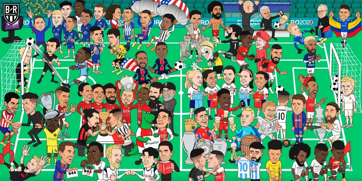 Toàn cảnh thế giới bóng đá 2020. (Ảnh: Bleacher Reports)
