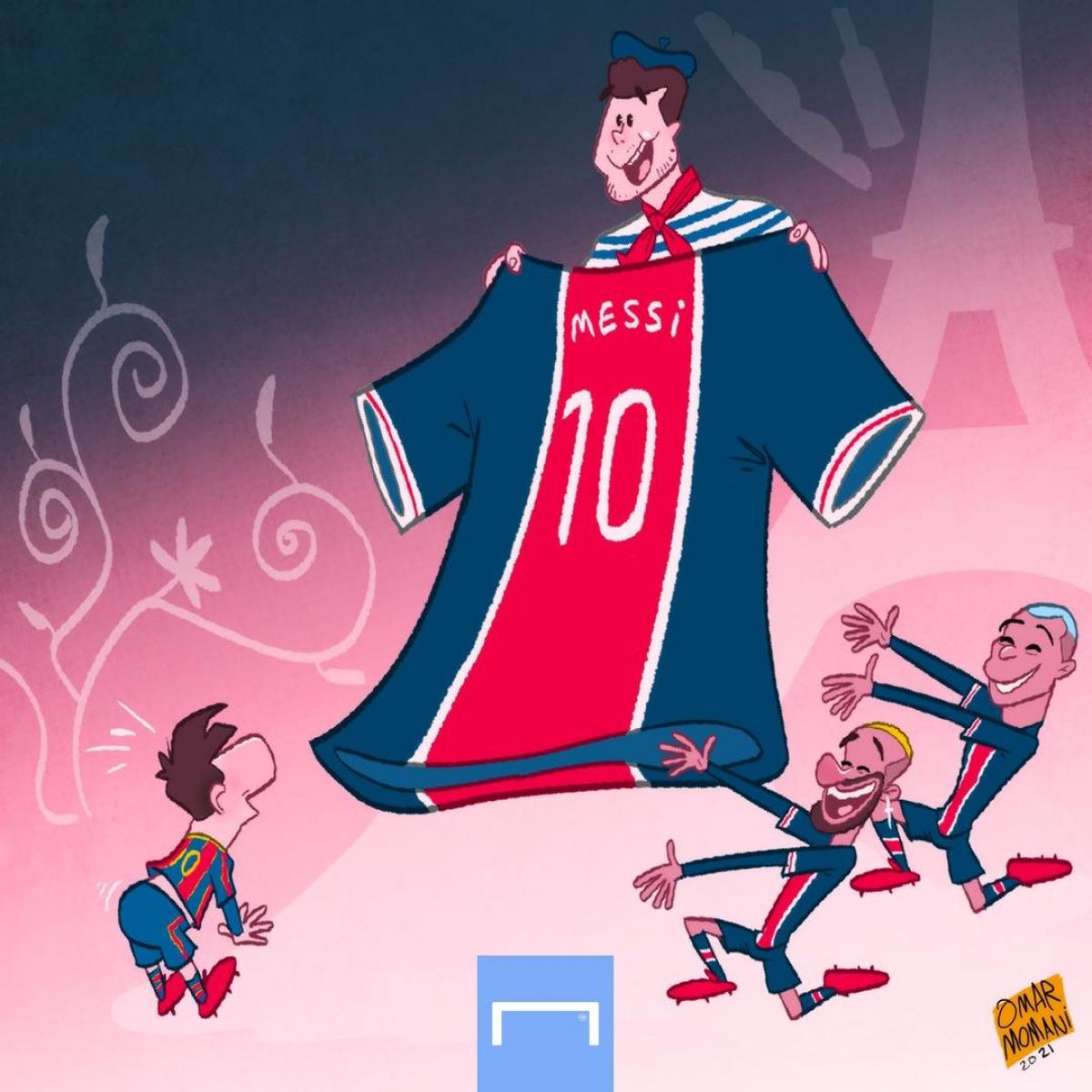 PSG mời gọi Lionel Messi. (Ảnh: Omar Momani)