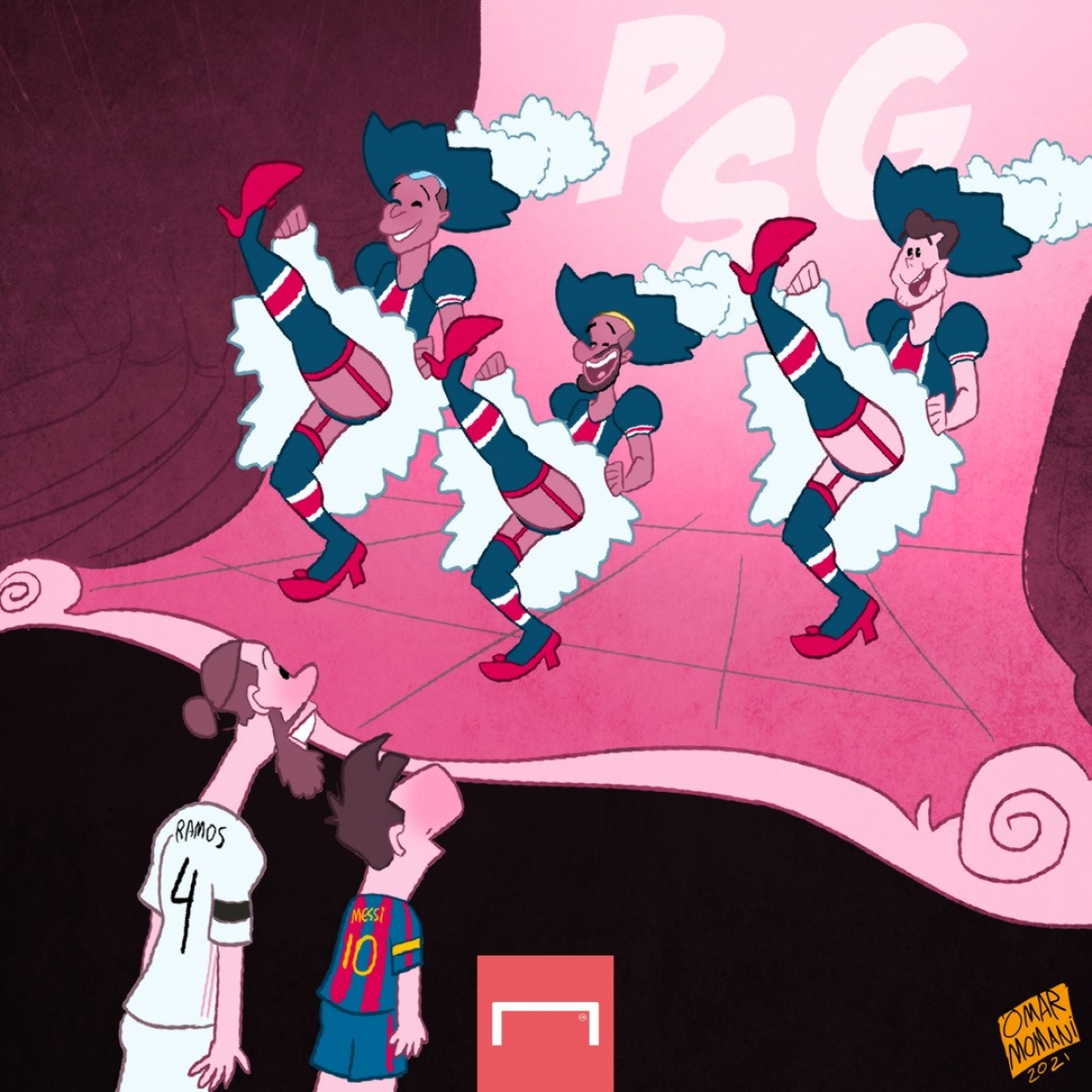 PSG mời gọi Sergio Ramos và Lionel Messi. (Ảnh: Omar Momani)
