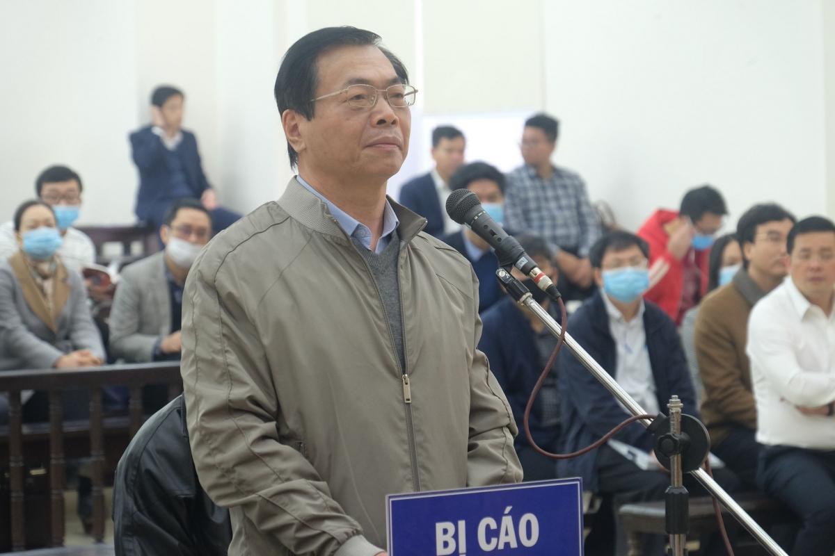 Bị cáo Vũ Huy Hoàng tại phiên tòa ngày 7/1.