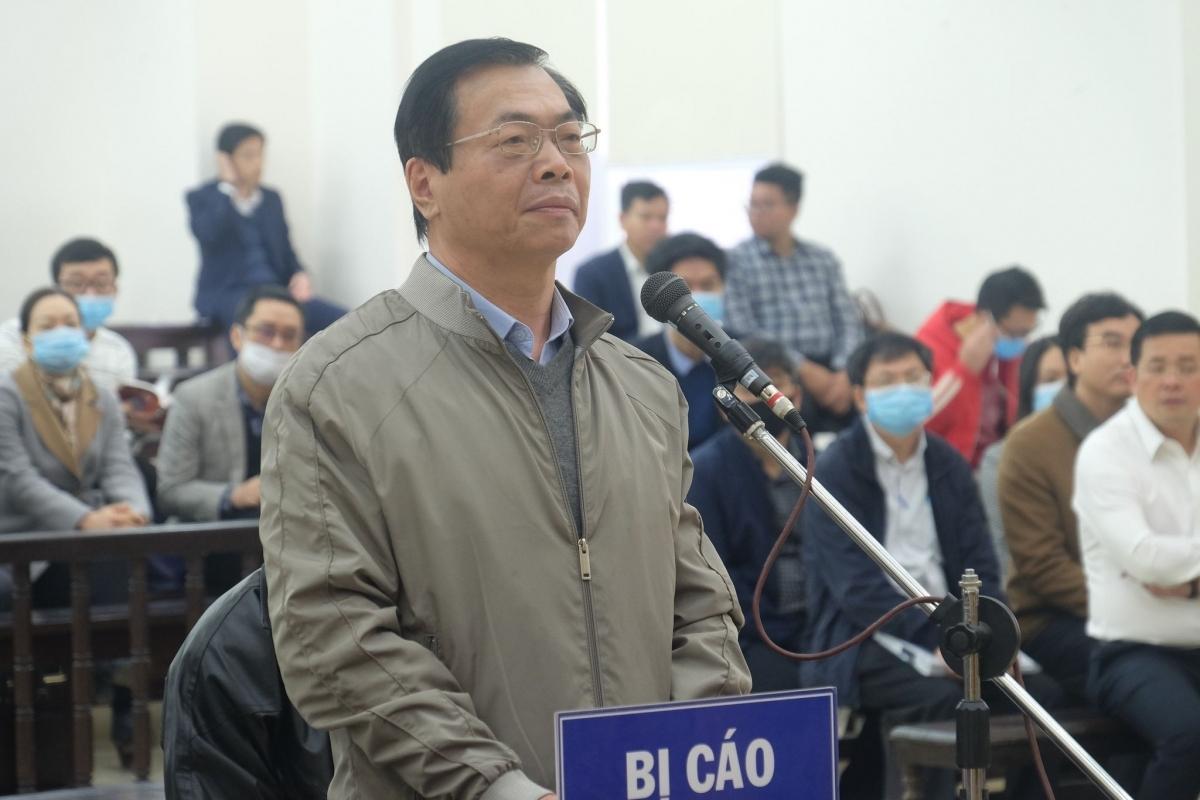 Cựu Bộ trưởng Công Thương - Vũ Huy Hoàng tại phiên tòa ngày 7/1.