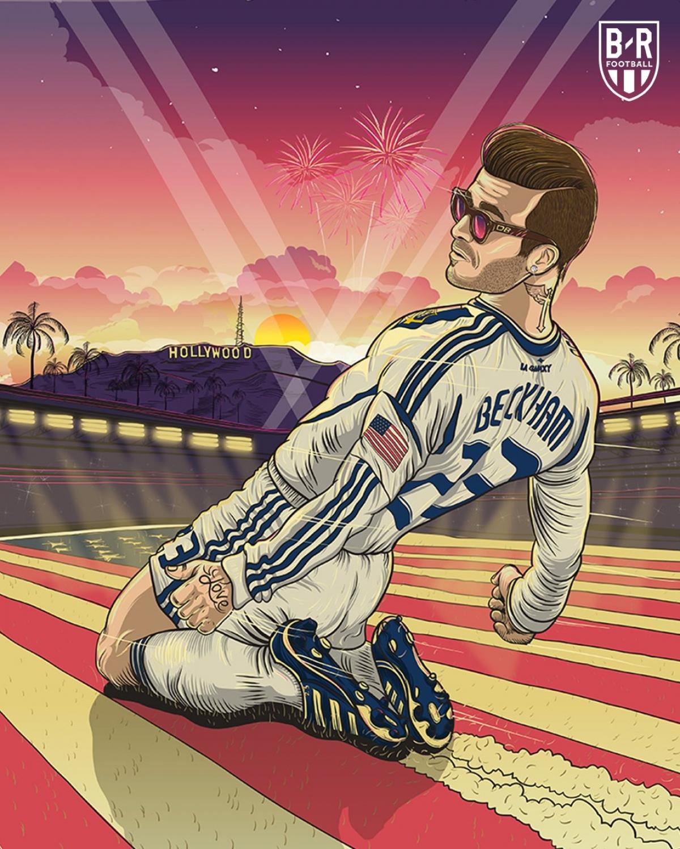 14 năm trước, David Beckham chuyển tới Giải nhà nghề Mỹ (MLS) khoác áo LA Galaxy. (Ảnh: Bleacher Reports)