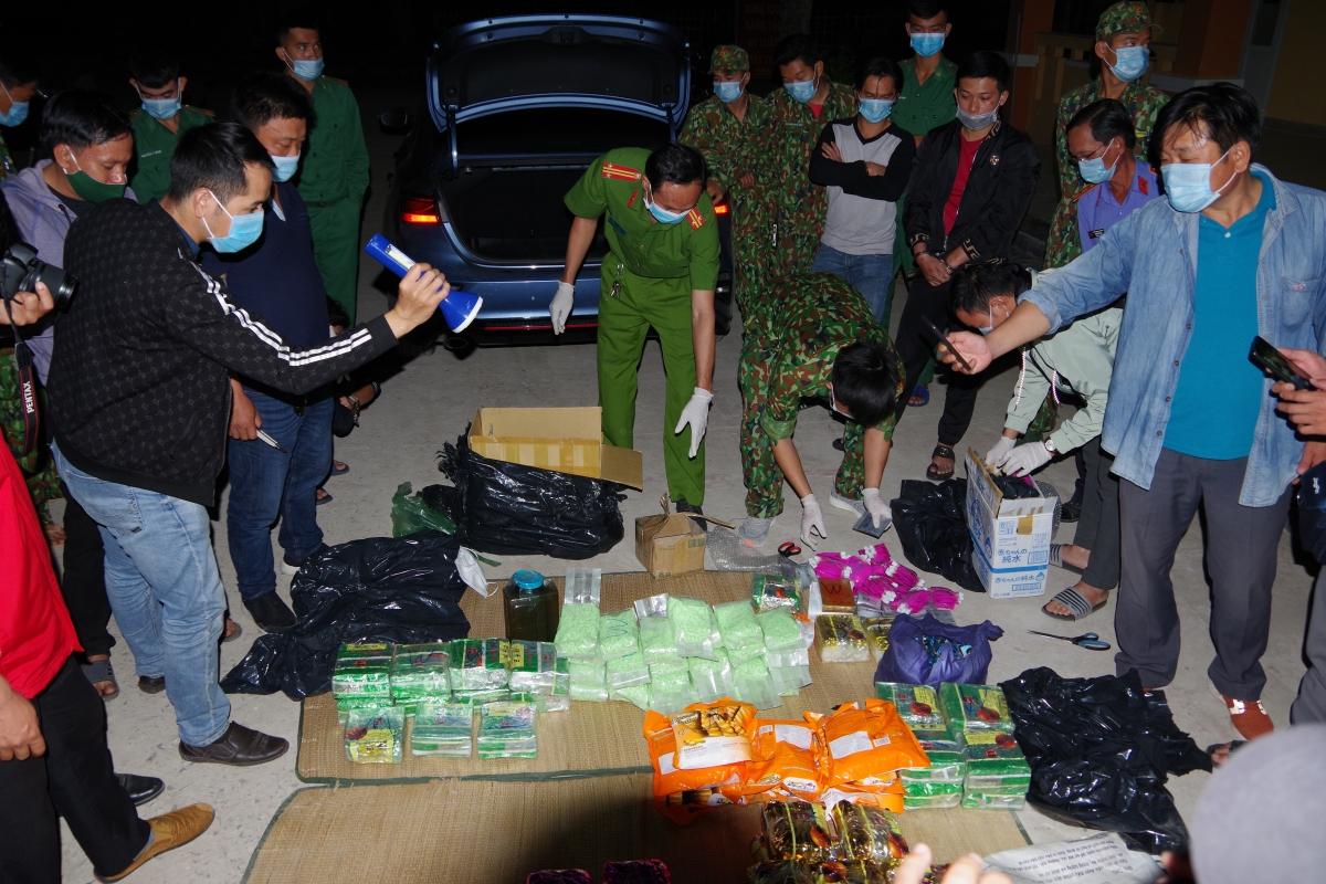 Số ma túy bị lực lượng bắt giữ.