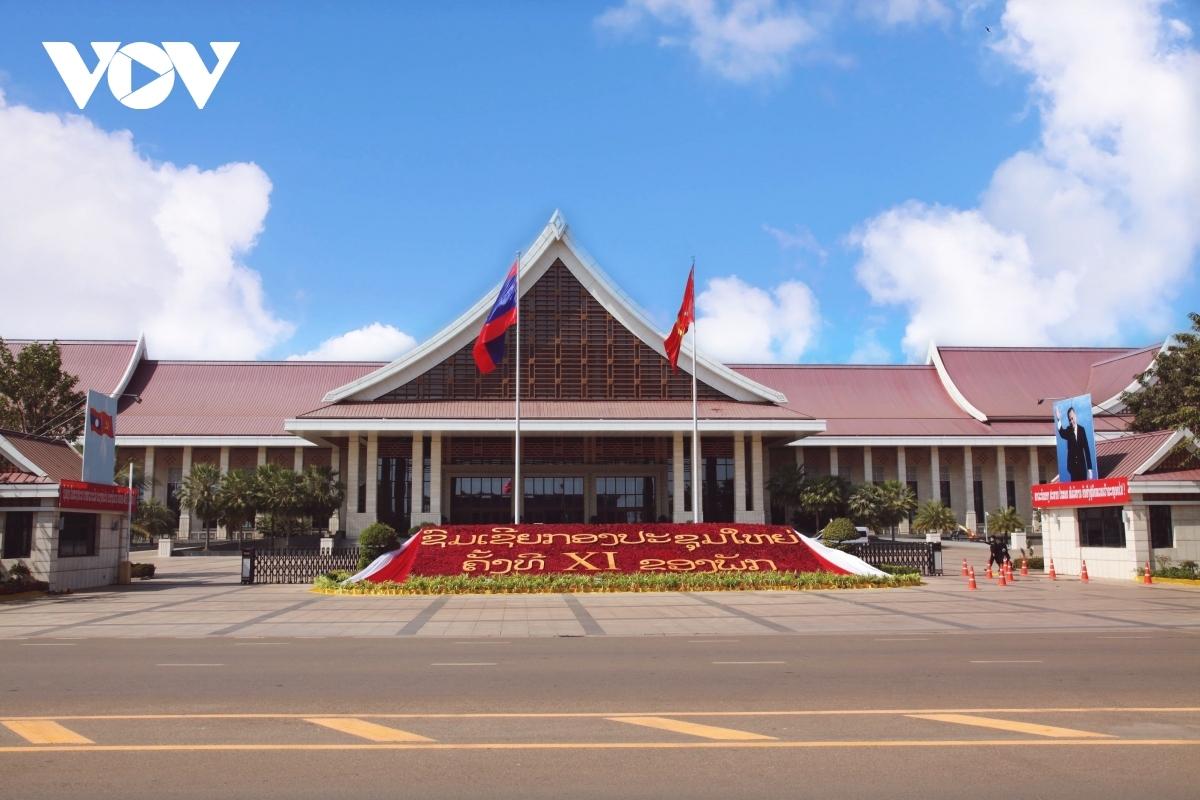 Trung tâm Hội nghị quốc gia - nơi diễn ra Đại hội đại biểu toàn quốc lần thứ 11 Đảng Nhân dân Cách mạng Lào.