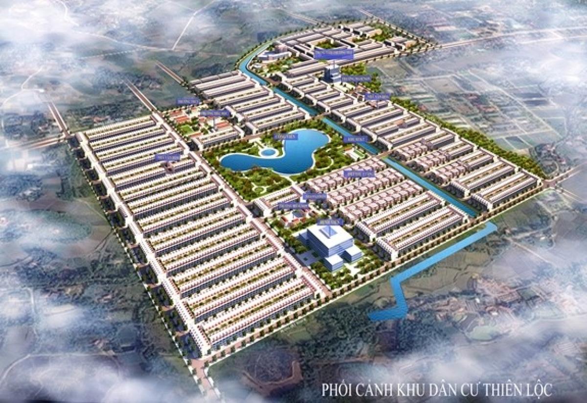 Phối cảnh Khu đô thị Thiên Lộc tại TP Sông Công
