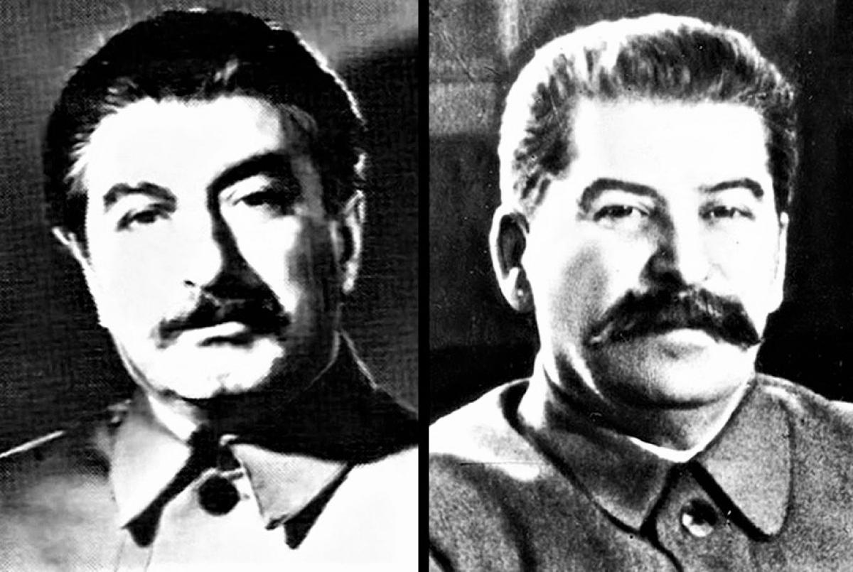 Stalin (phải) và người đóng thế Dadaev; Nguồn: RBTH