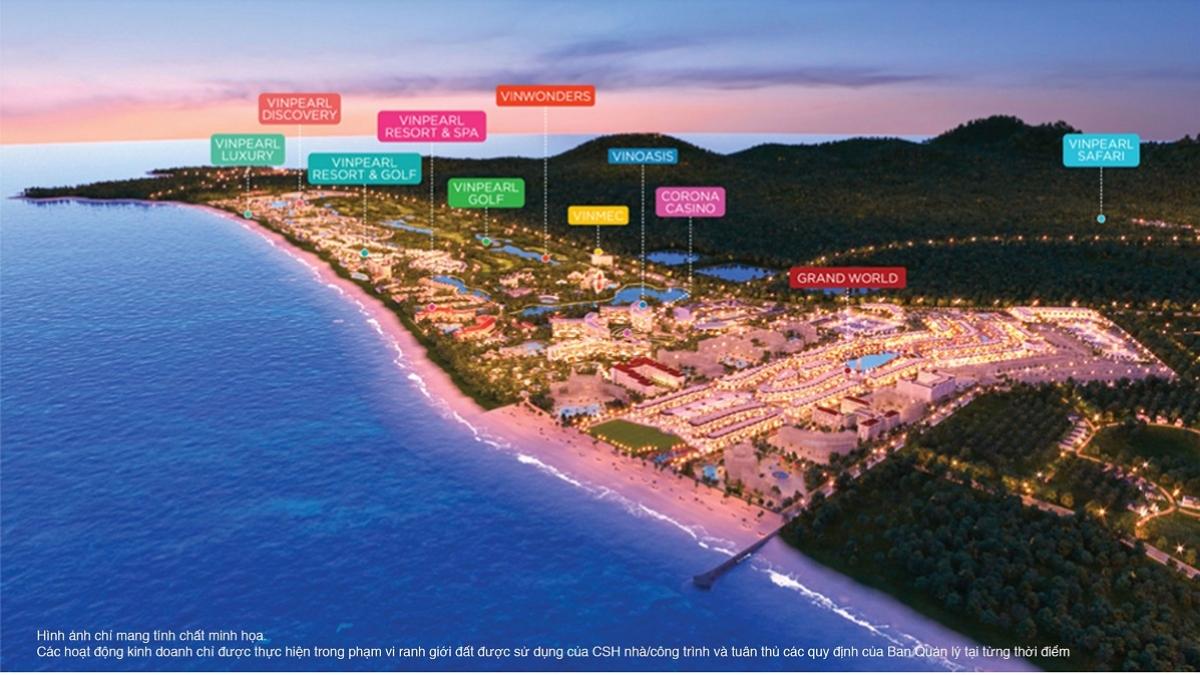 Bất động sản Phú Quốc đang có sự chuyển mình về chất từ khi xuất hiện những siêu tổ hợp nghỉ dưỡng – vui chơi giải trí – mua sắm như Phú Quốc United Center.