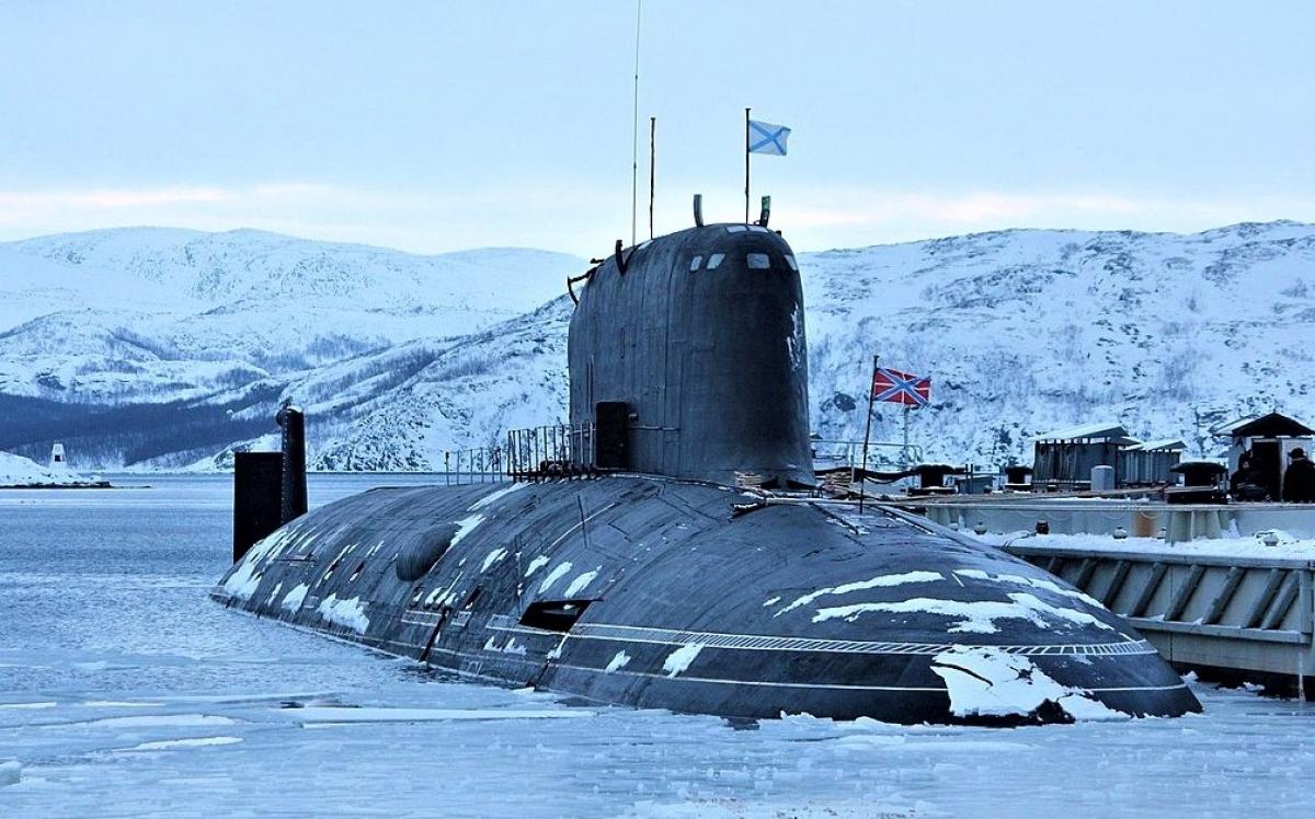 Tàu ngầm chạy bằng năng lượng hạt nhân K-560Severodvinsk lớp Yasen của Nga. Nguồn: wikipedia.org