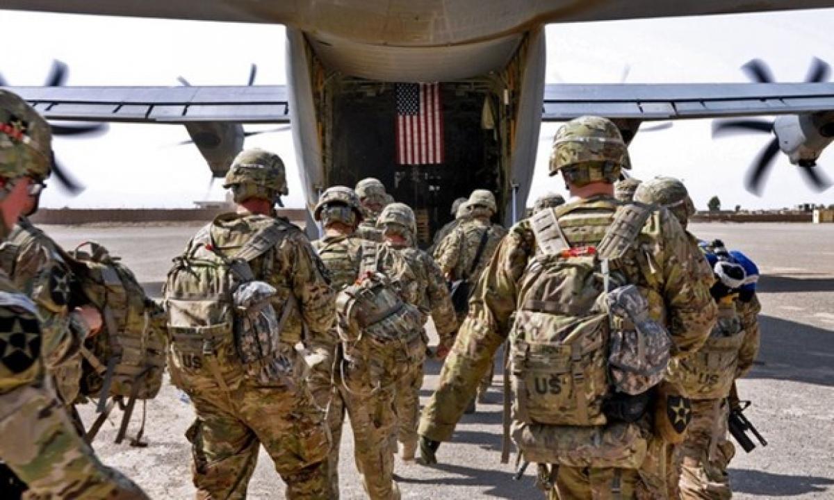 Binh lính Mỹ rút khỏi Afghanistan (Nguồn: AP)