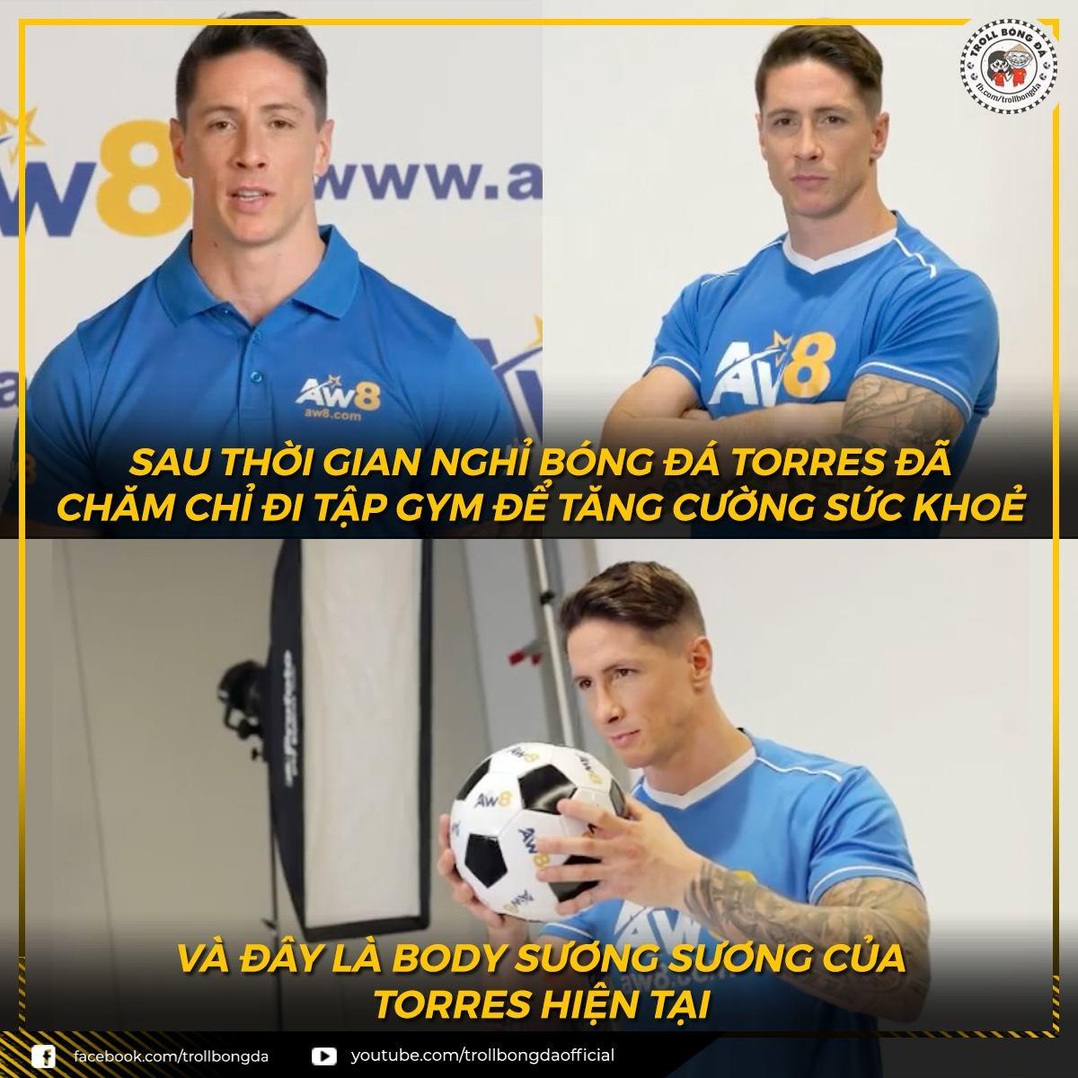 """Torres biến thành """"lực sĩ"""" sau khi giải nghệ (Ảnh: Troll bóng đá)."""