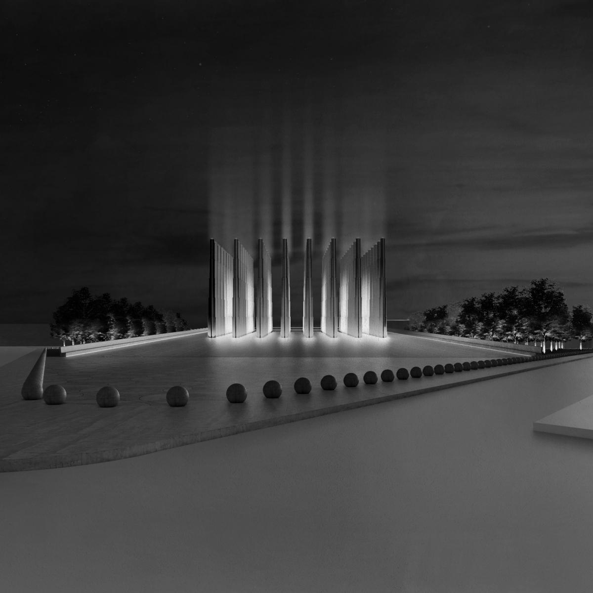 Tại quốc gia Tây Phi Niger, Công ty thiết kế Adjaye Associates sẽ hoàn thành một công trình đài tưởng niệm. Với kết cấu gồm 56 cột bê tông hình ngôi sao dài 20 mét lên không trung, nằm bên trên một căn phòng lớn/