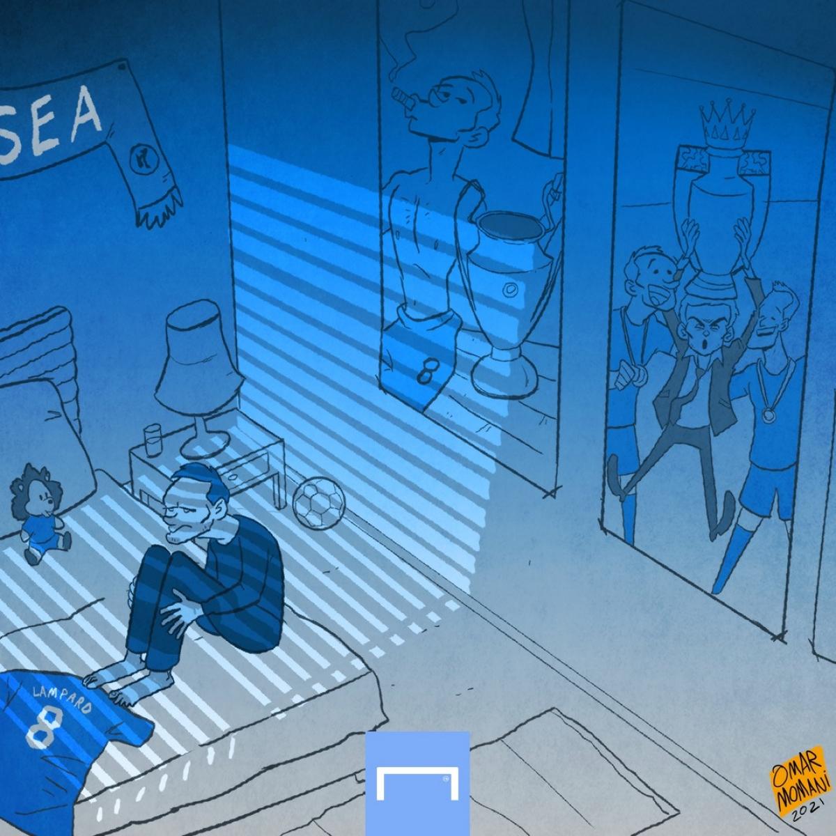 Huyền thoại Lampard trong căn phòng lạnh lẽo.