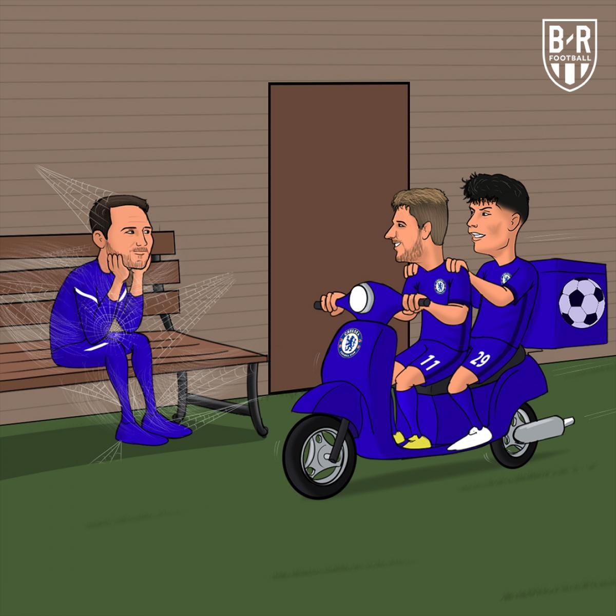 HLV Lampard bớt lo khi bộ đôiKai Havertz và Timo Werner nổ súng trở lại.
