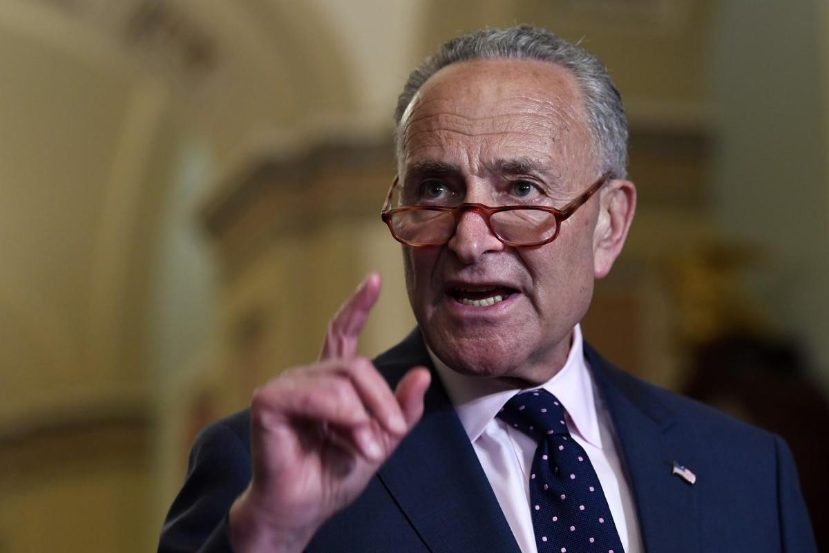 Lãnh đạo phe thiểu số tại Thượng viện Mỹ Chuck Schumer. Ảnh: AP.