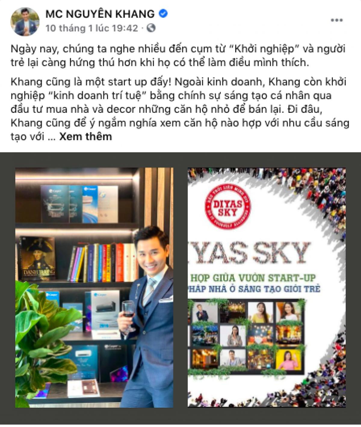 MC Nguyên Khang chia sẻ về trải nghiệm bản thân với DIYAS SKY