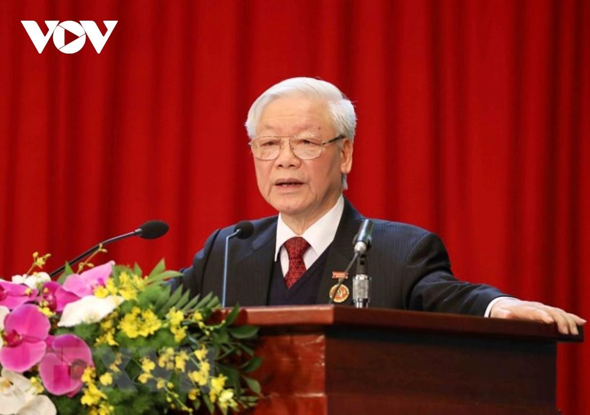 Tổng Bí thư, Chủ tịch nước Nguyễn Phú Trọng luôn nhấn mạnh công tác cán bộ là nhân tố quyết định thành bại của cách mạng. (Ảnh: Trọng Phú)