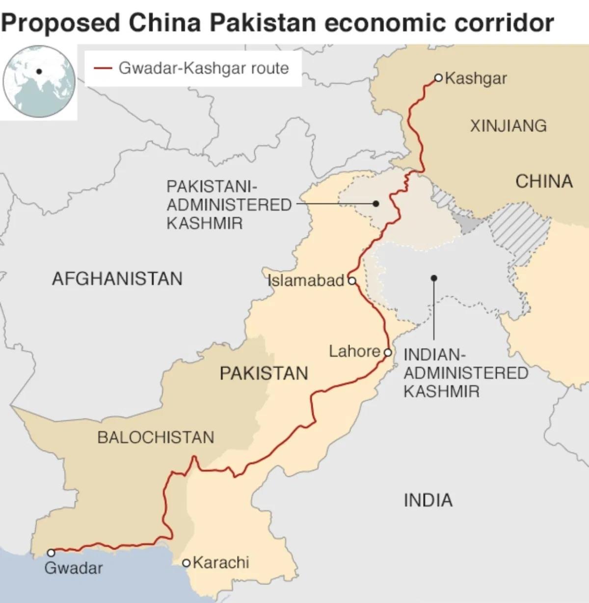 Đồ họa về Hành lang Kinh tế Trung Quốc-Pakistan. Đồ họa: Twitter.