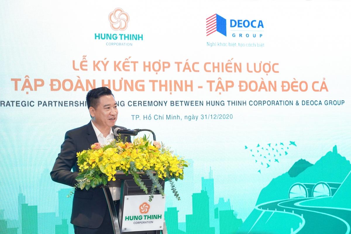 Ông Nguyễn Đình Trung - Chủ tịch Tập đoàn Hưng Thịnh phát biểu tại buổi lễ.