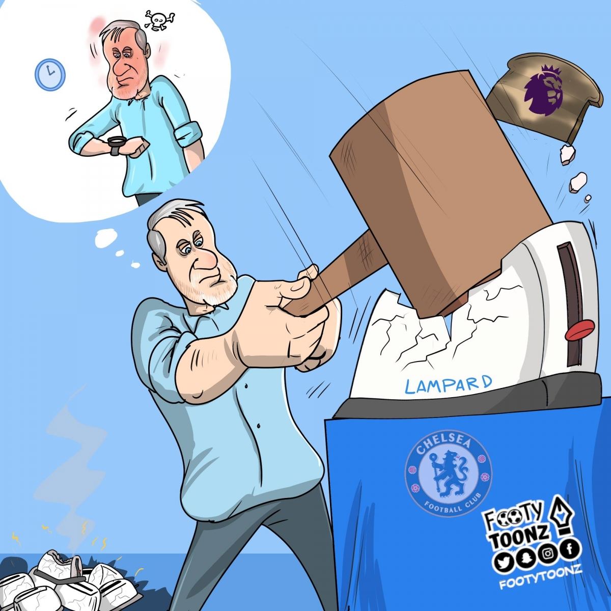 Ông chủRoman Arkadyevich Abramovich không thể kiên nhẫn với Lampard.