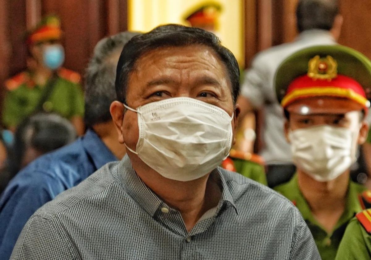 Ông Đinh La Thăng tại phiên xử vụ án cao tốc Trung Lương hồi cuối tháng 12/2020.