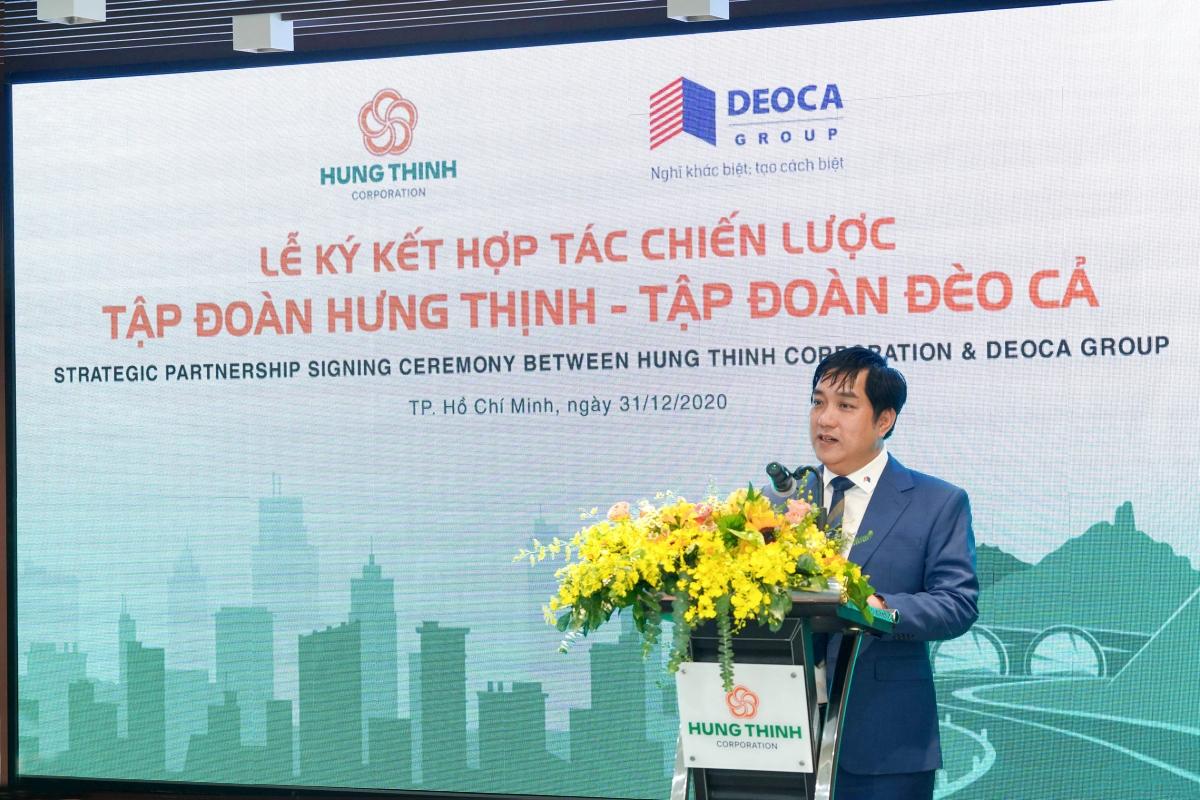 Ông Hồ Minh Hoàng phát biểu tại buổi lễ.