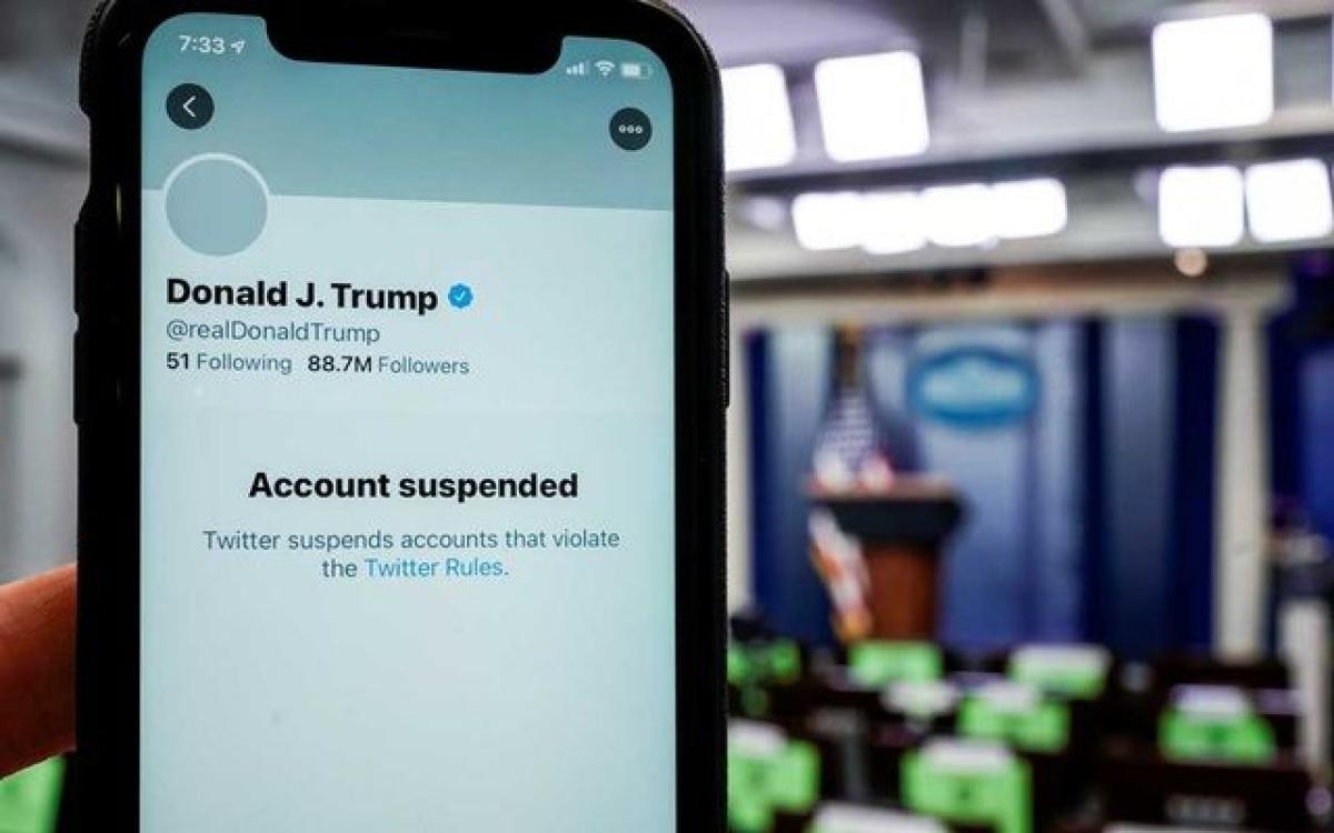 Twitter quyết định đóng vĩnh viễn tài khoản của ông Trump. (Nguồn: Twitter)