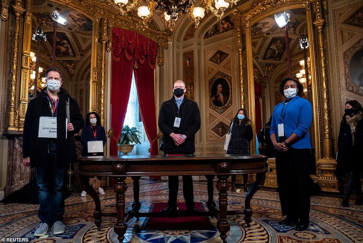 Quy mô lễ nhậm chức của ông Biden được thu nhỏ đáng kể do lo ngại dịch Covid-19. Ảnh: Reuters