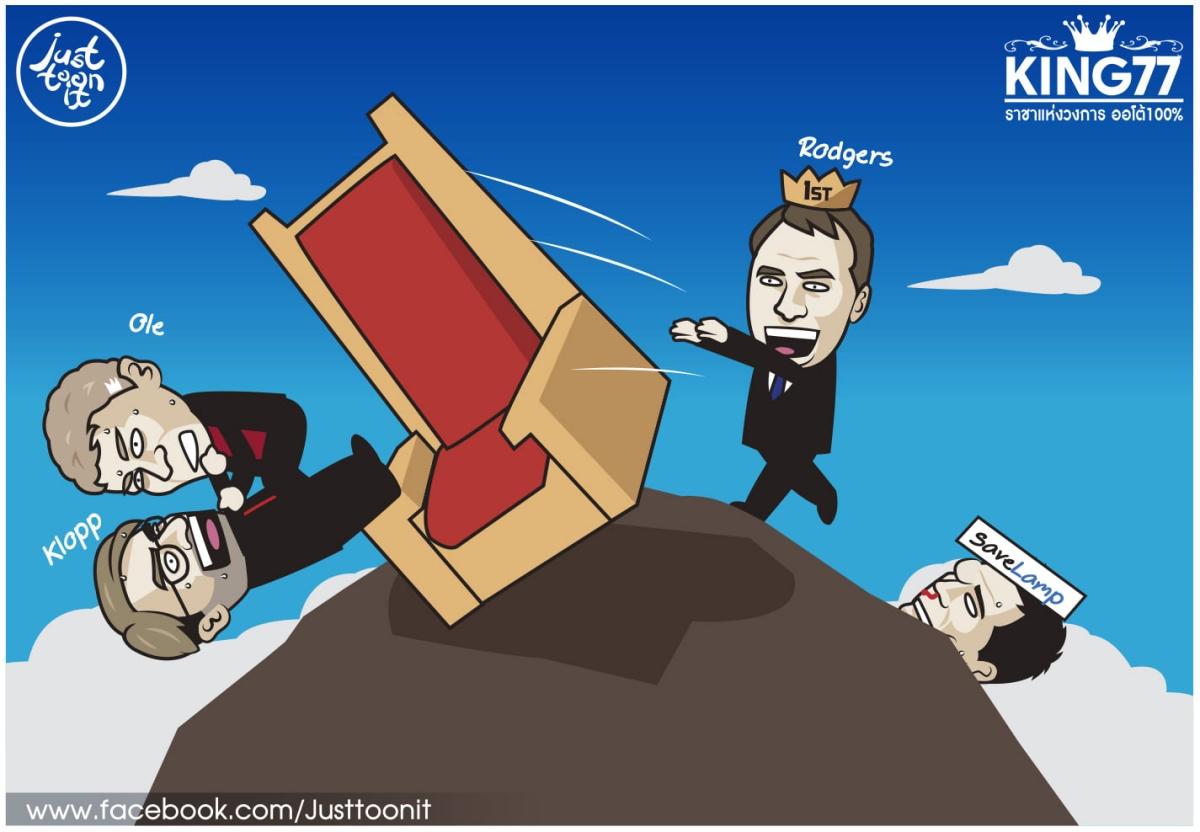 Leicester tạm chiếm ngôi đầu trên BXH Ngoại hạng Anh. (Ảnh: Just Toonit).