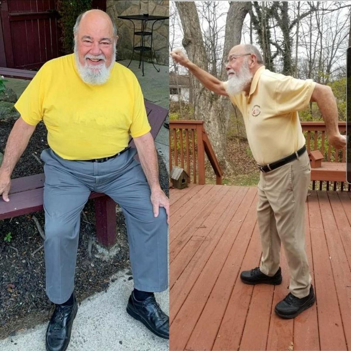 Bố tôi đã giảm cân thành công. Ông ấy đã nỗ lực rất nhiều ở độ tuổi ông ấy trong suốt 1 năm qua.