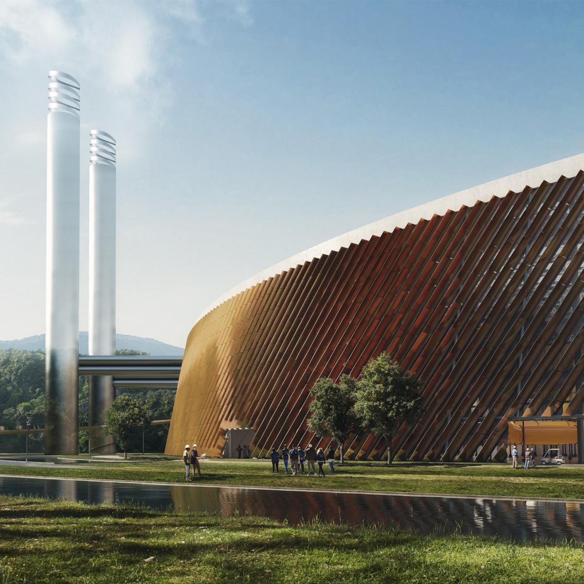 Nhà máy chuyển đổi chất thải thành năng lượng ở phía Đông Thâm Quyến, Trung Quốc, của Schmidt Hammer Lassen Architects và Gottlieb Paludan Architects cũng sẽ đi vào hoạt động vào năm 2021. Nhà máy có công suất đốt tới 5.000 tấn rác mỗi ngày. Hai phần ba mái của tòa nhà được bao phủ bởi các tấm quang điện để đảm bảo tòa nhà cũng có thể tạo ra nguồn cung cấp năng lượng bền vững cho riêng mình.