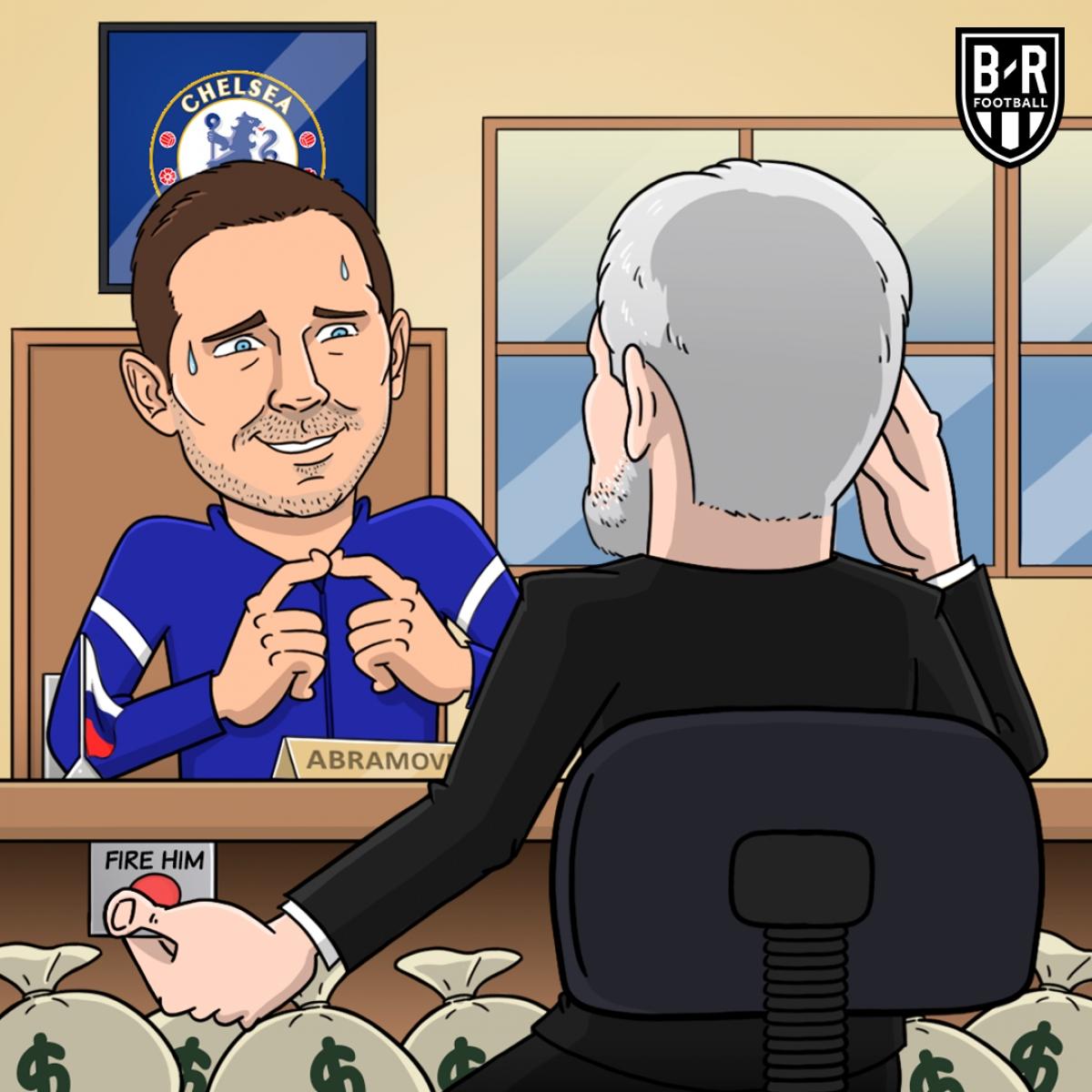 """Ông chủ Chelsea - Abramovich """"hối hận"""" khi cấp quá nhiều tiền chuyển nhượng cho HLV Lampard. (Ảnh: Bleacher Report)./."""