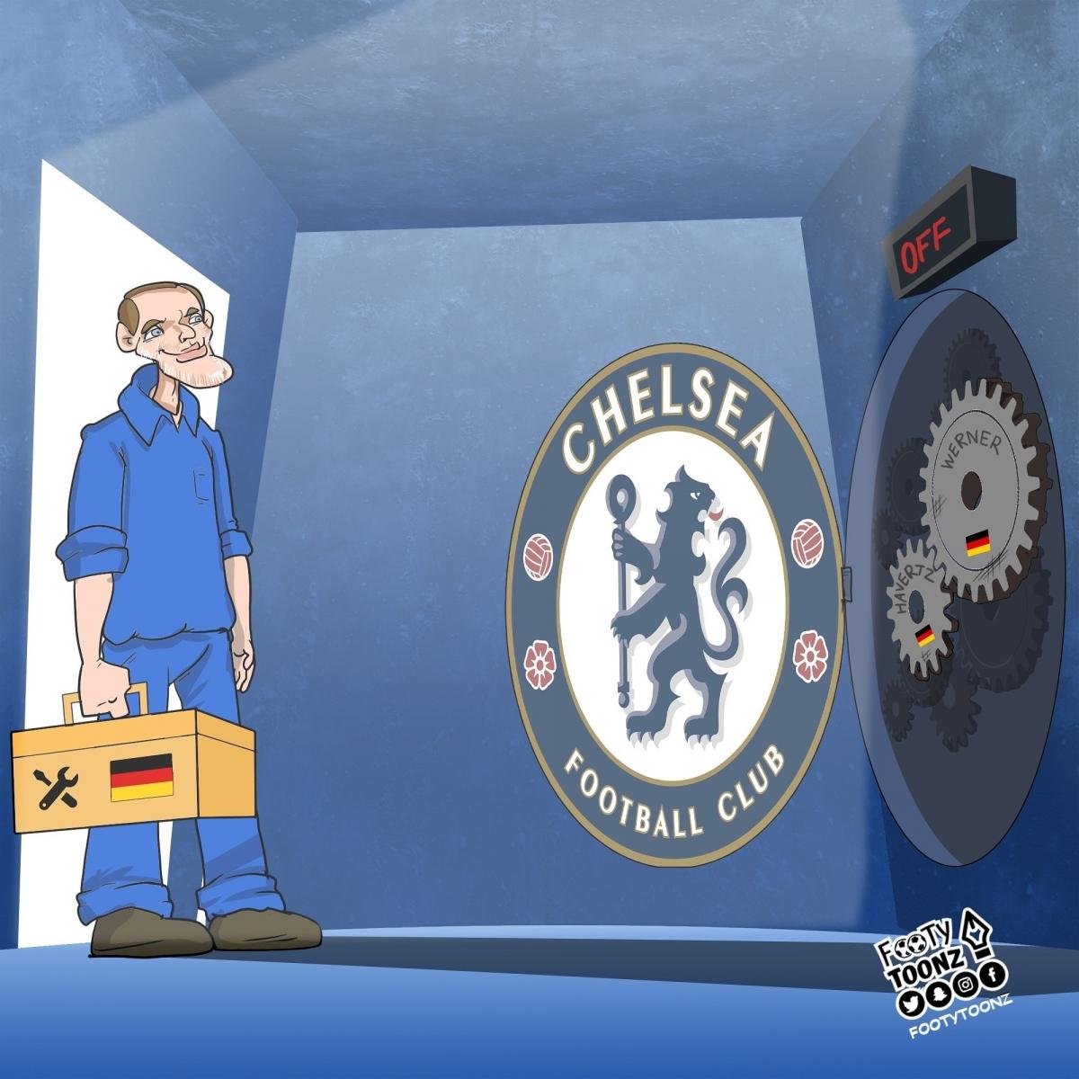 HLV Tuchel và bài toán ở Chelsea.