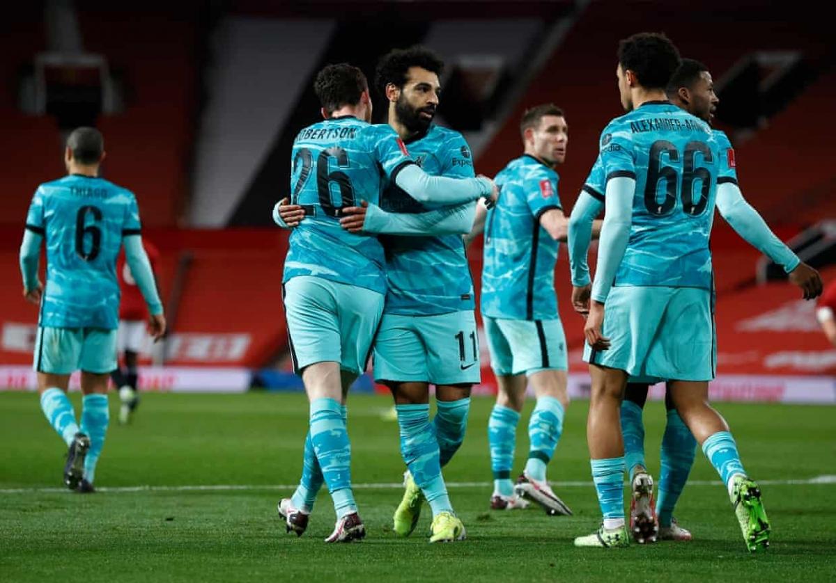 Mohamed Salah đưa Liverpool vượt lên dẫn trước trên sân Old Trafford ở phút 18.