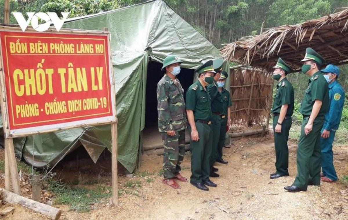 Các chốt kiểm soát người xuất nhập cảnh trái phép nhằm phòng chống dịch Covid-19 tại tỉnh Quảng Bình.