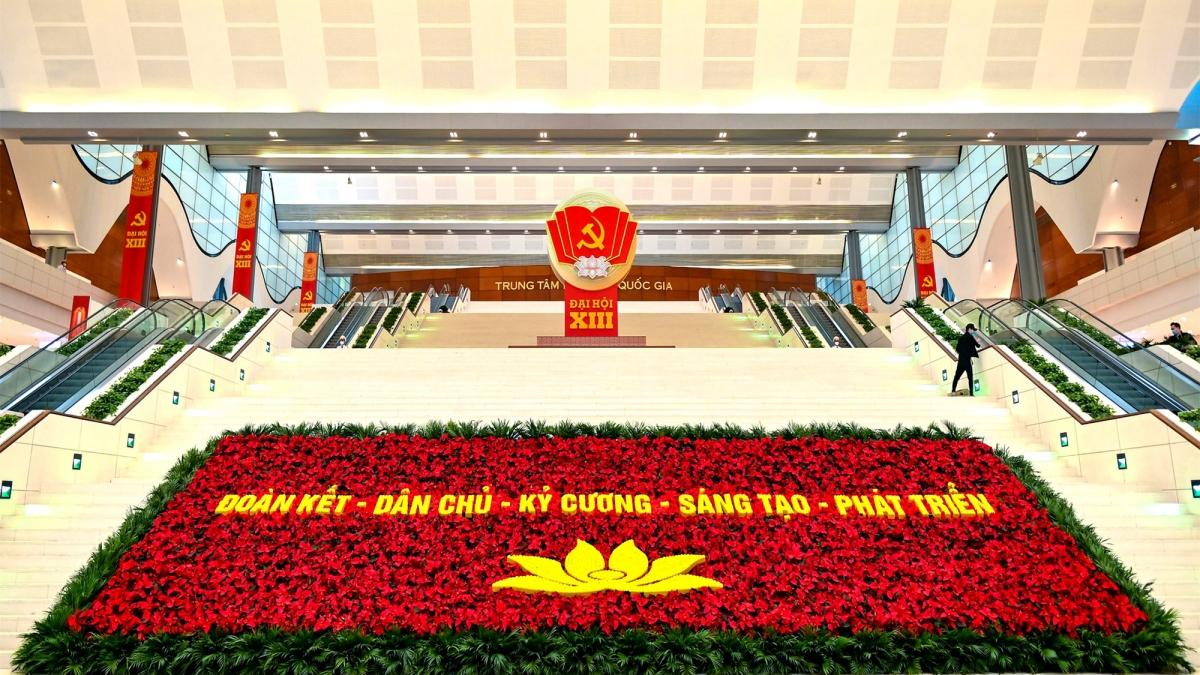 Trung tâm Hội nghị Quốc gia - nơi diễn ra Đại hội đại biểu toàn quốc lần thứ XIII của Đảng