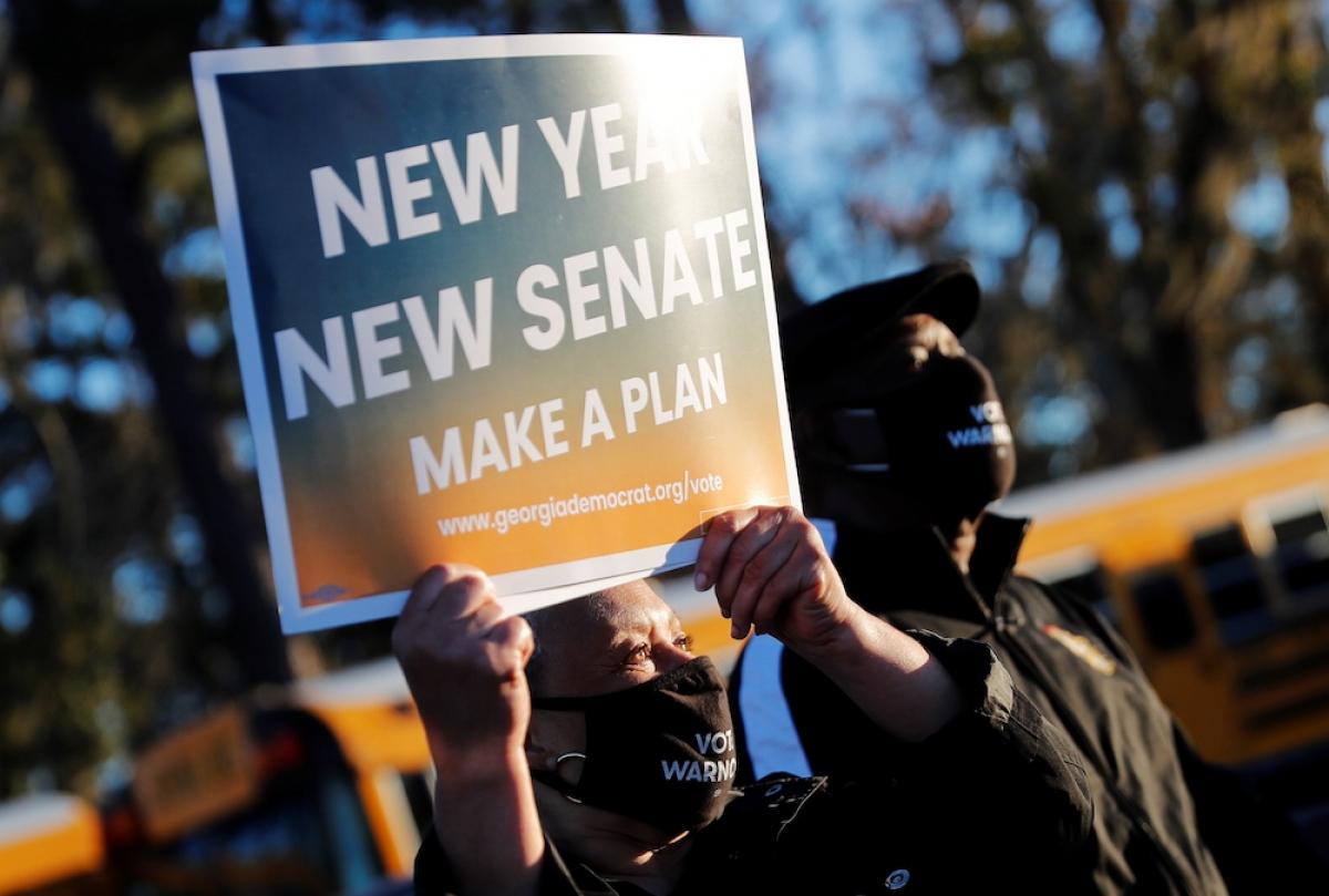 Cuộc đua vào Thượng viện ở Georgia sẽ quyết định đảng nào kiểm soát Thượng viện Mỹ. Ảnh: Reuters