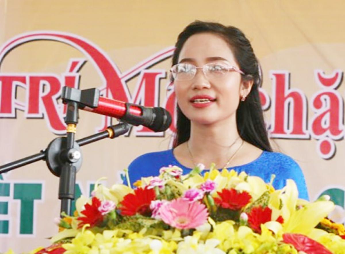 Đối tượng Nguyễn Thị Lan. (Ảnh: Báo Hải Dương)