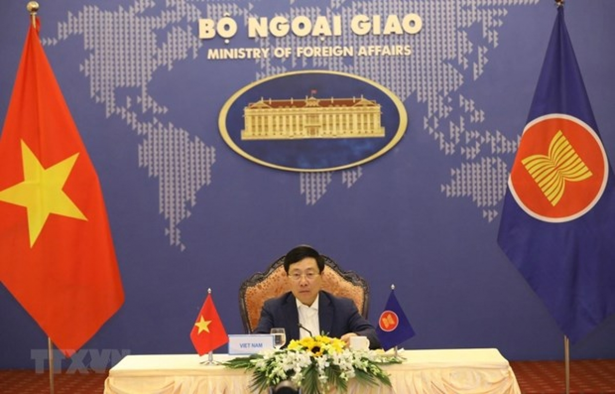 Deputy Prime Minister and Minister of Foreign Affairs Pham Binh Minhat the event (Photo: VNA)