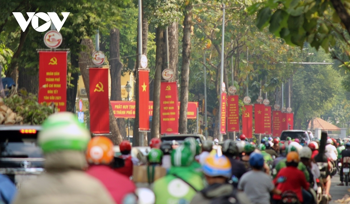 Streets in Vietnam have been decorated to celebrate the 13th National Party Congress.