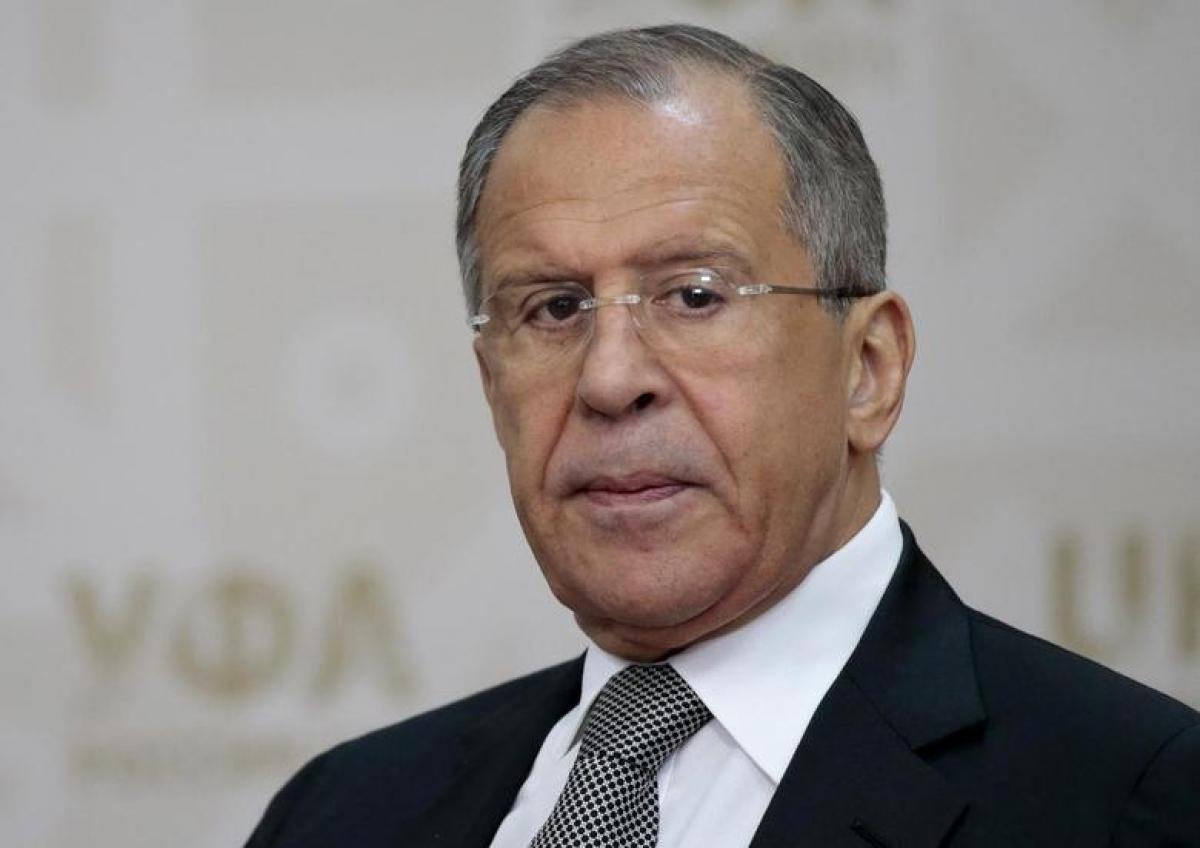 Ngoại trưởng Nga Sergey Lavrov. Ảnh: Reuters