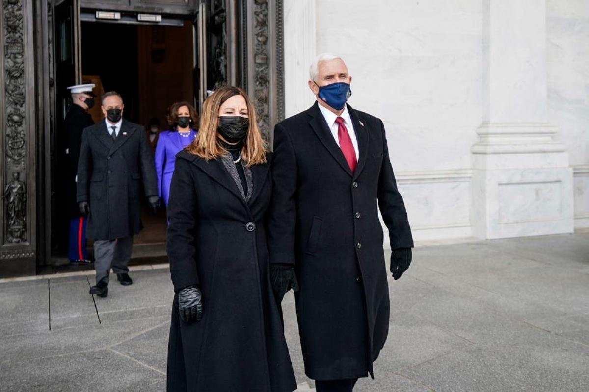 Cựu Phó Tổng thống Mike Pence và phu nhân Karen Pence. Ảnh: Getty