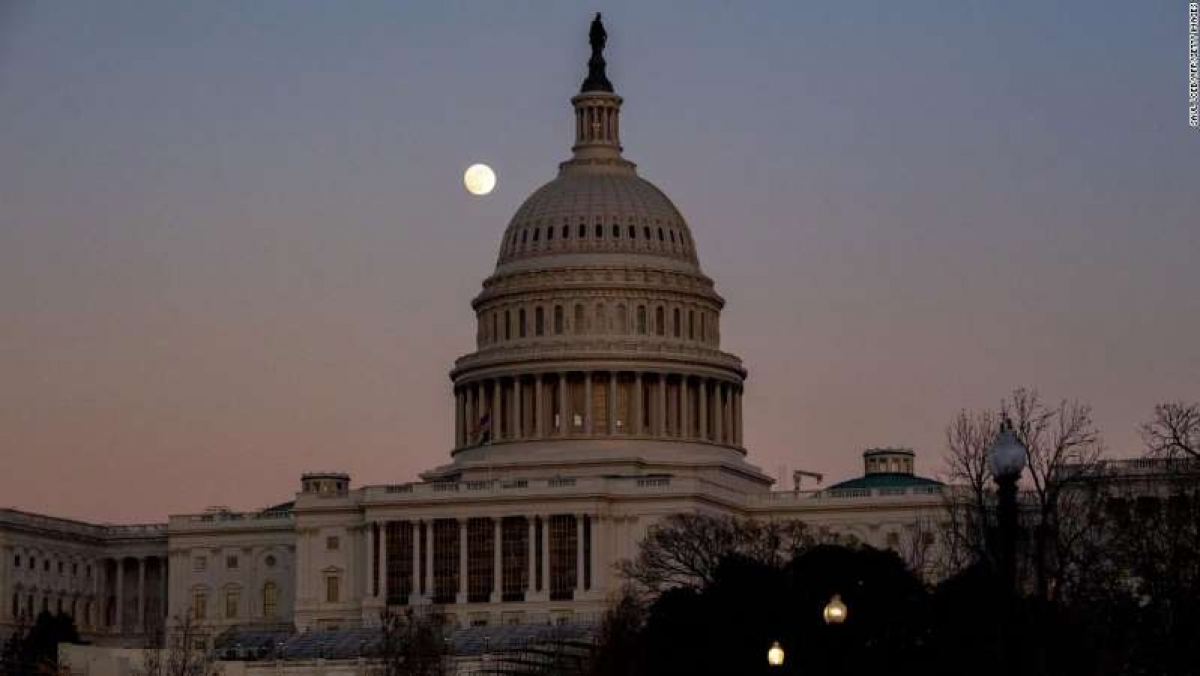 Tòa nhà Quốc hội Mỹ ở Washington DC. Ảnh: AFP