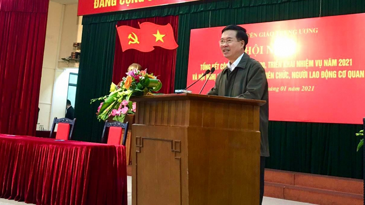 Ông Võ Văn Thưởng phát biểu tại hội nghị.