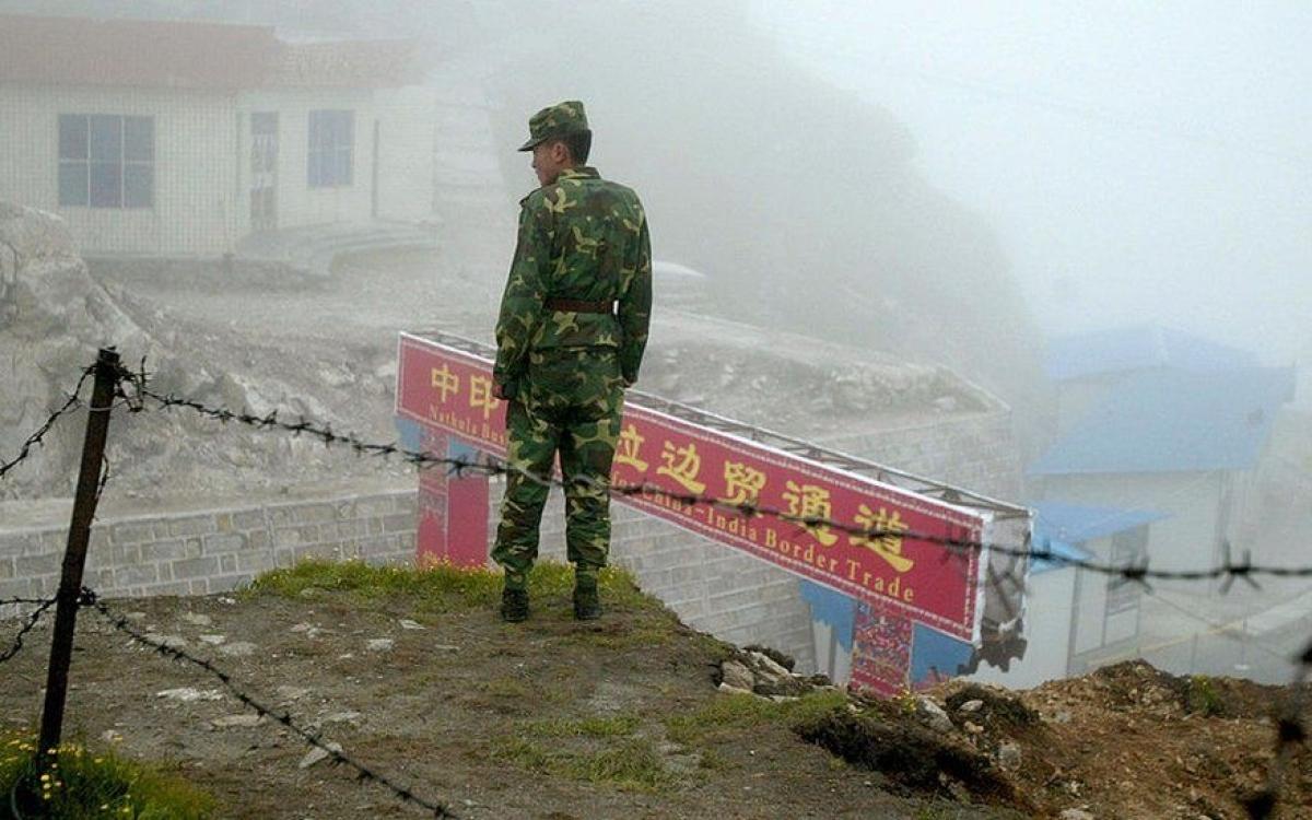 Lính Trung Quốc tại khu vực biên giới Trung-Ấn. Ảnh: BBC.