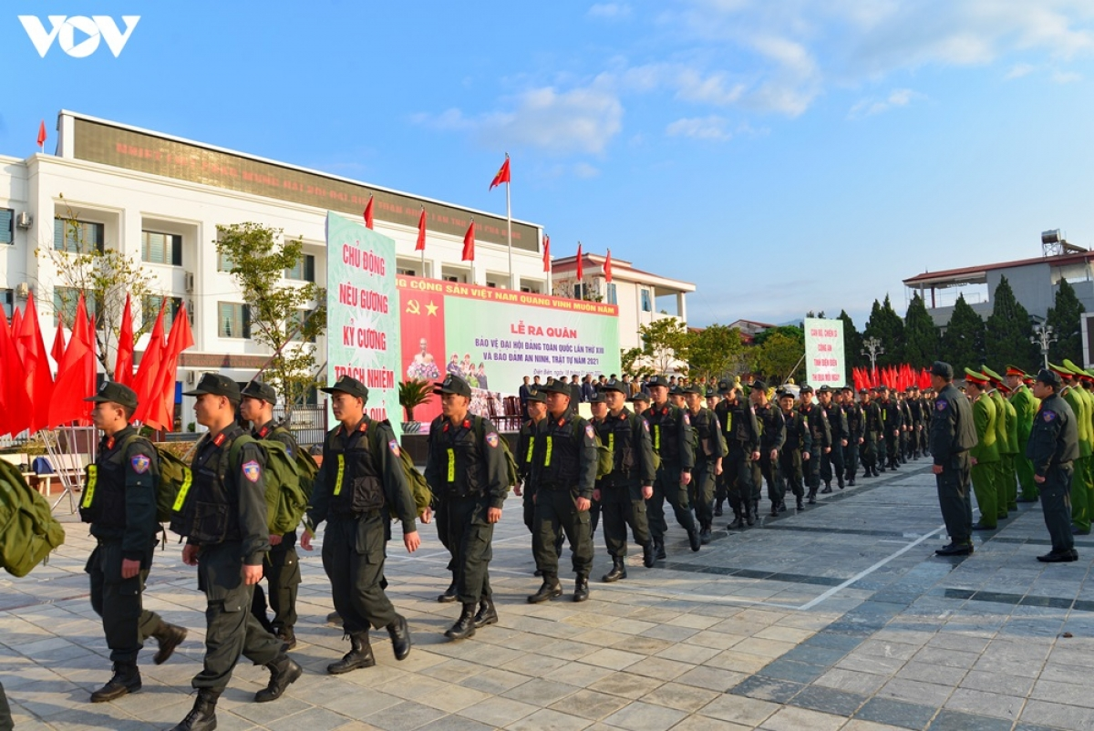 Đây là đợt ra quân đồng bộ nhiều lực lượng, với sự quyết tâm cao của các cán bộ chiến sĩ Công an tỉnh Điện Biên hướng về sự kiện trọng đại của đất nước.