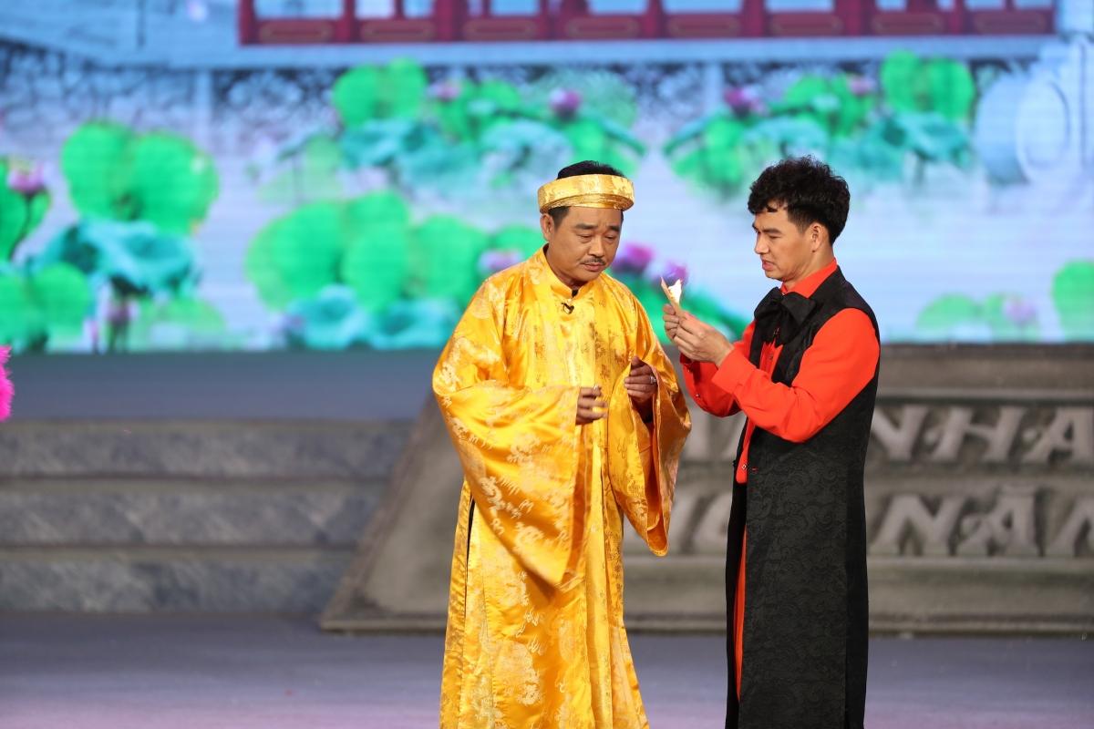 Ngọc Hoàng và Nam Tào trong một cảnh quay.