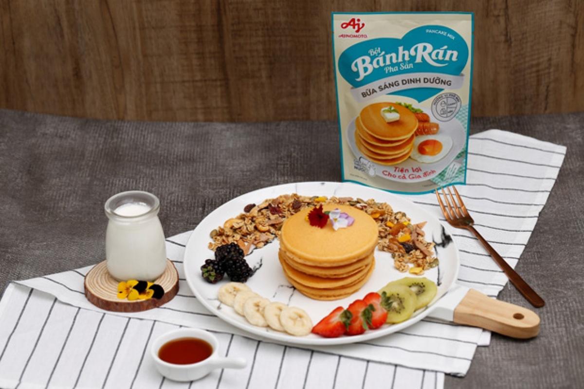 """Bữa sáng với bánh rán trái cây cho người """"eat clean"""" (ăn sạch)."""