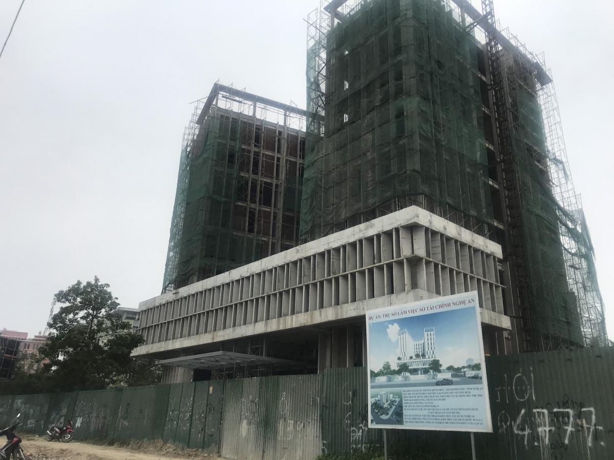 Trụ sở làm việc Sở Tài chính Nghệ An có tổng mức đầu tư hơn 100 tỷ đồng.
